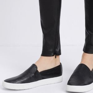 {Vince} Perforated Leather Blair Slip On in Black